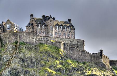 Edinburgh Castle on Castle Rock in the late evening light