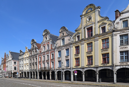 Historical houses on the Grand Place in Arras, France