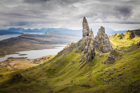 isle: The Old Man of Storr on the Isle of Skye in the Highlands of Scotland
