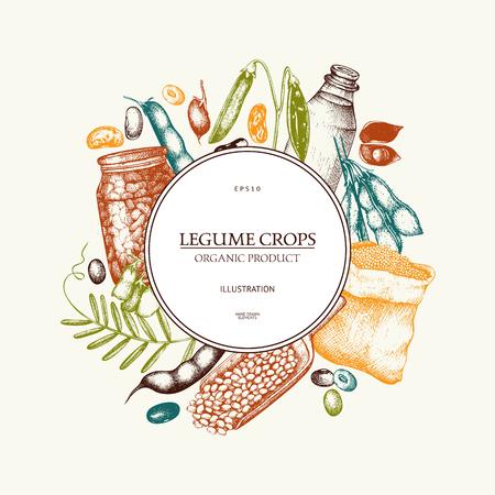 Farm fresh and organic plants template Ilustração