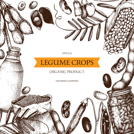 Farm fresh and organic plants template Çizim
