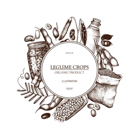 Farm fresh and organic plants template Stock Illustratie