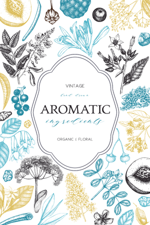 Aromatic and medicinal plant design.