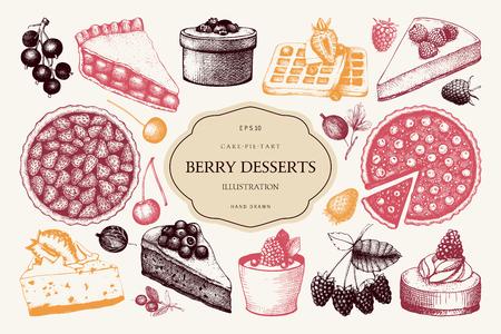 Vector collectie van vintage baksel illustratie. Vector Illustratie