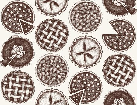Vector pattern with vinatge baking.