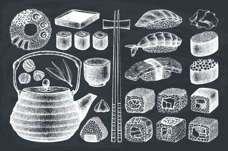 ベクトル寿司コレクション  イラスト・ベクター素材