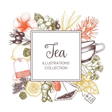Vector Tea design Çizim