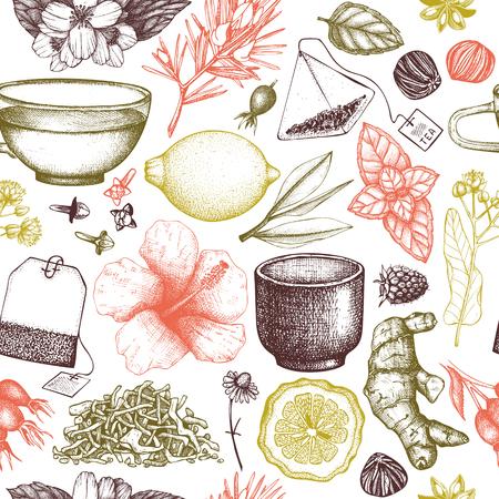 Vector tea background Illustration