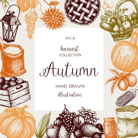 Vintage autumn template.