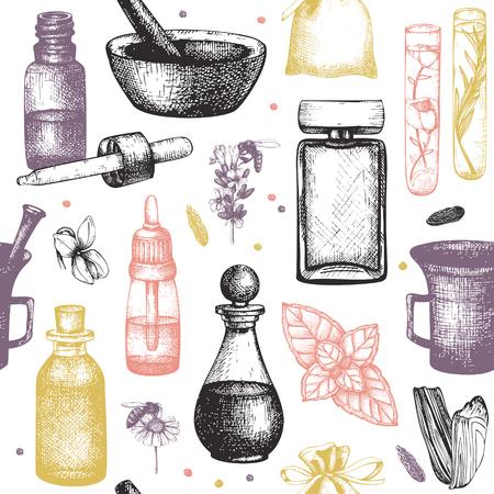 Ingrédients des ingrédients des parfums bio et floral Vecteurs