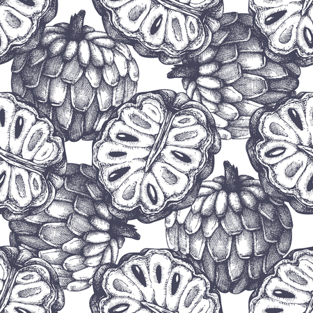 Vector Sugar-apple background. Illustration