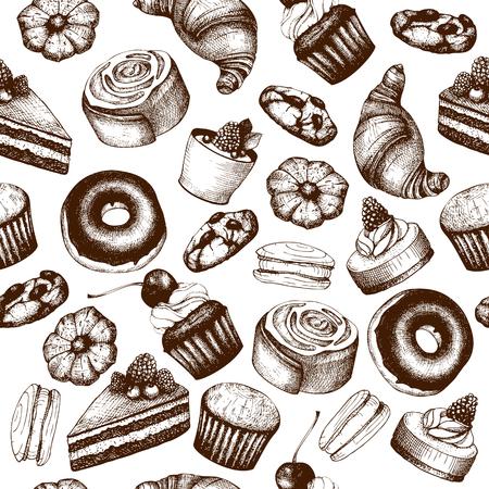 Contexte de boulangerie vintage