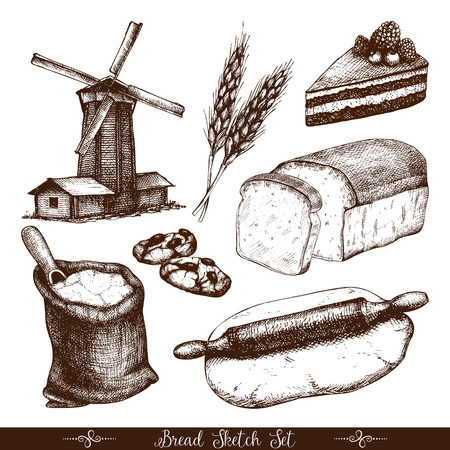Vintage bakery illustration. Illustration