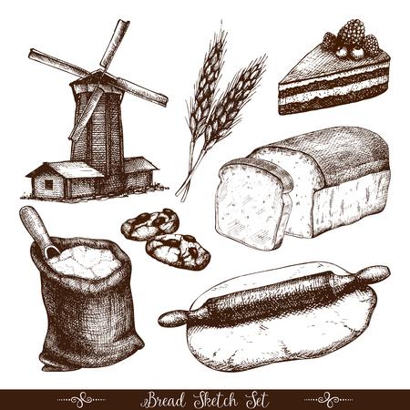 Vintage Bäckerei Illustration.