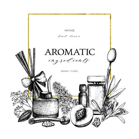 balm: Aromatic and medicinal plant design.