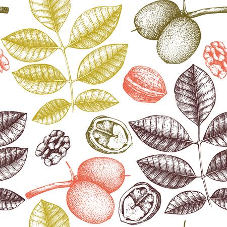 Vector walnut pattern