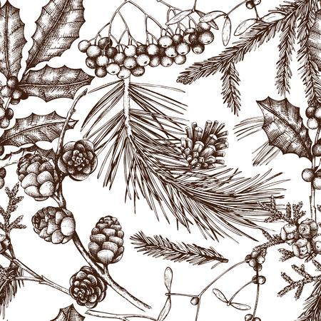 Vektor Weihnachten Muster Vektorgrafik