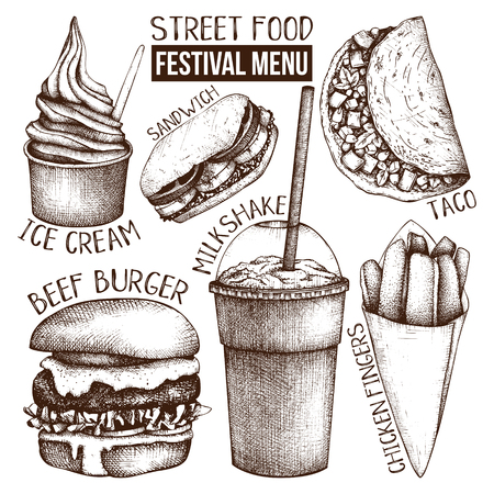 Street food festival menu.