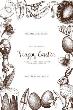 Vector illustration for easter design. Happy Easter Day