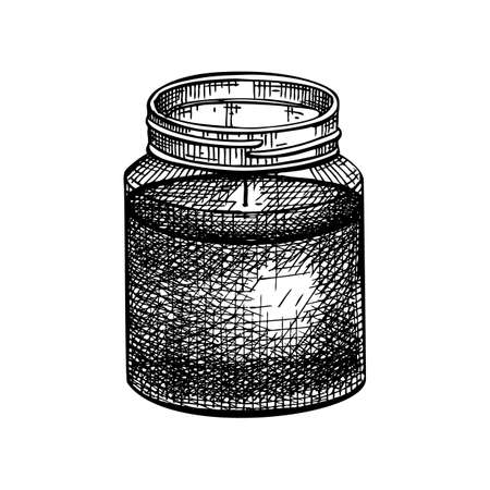 Hand-sketched aromatic candle illustration. Vector illustrations of burning wax candle. For aromatherapy, hygge home or holiday decoration, meditation. Vintage design element