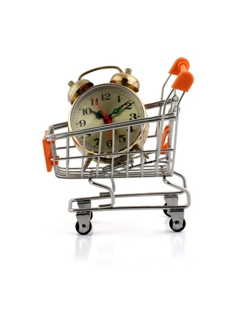 an alarm clock in your shopping cart,clipping pack photo