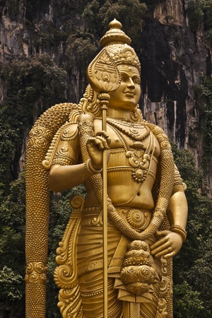 Statue of Lord Murugan, God of War, Batu Caves, Kuala Lumpur, Malaysia photo