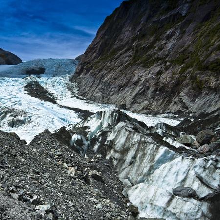 fox glacier: Beautiful landscape at Franz Josef Glacier. West Coast, South Island, New Zealand.