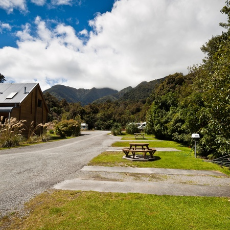 Fox Glacier Lodge, Fox Glacier, West Coast, South Island, New Zealand. Stock Photo - 8912125