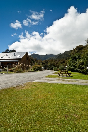 fox glacier: Fox Glacier Lodge, Fox Glacier, West Coast, South Island, New Zealand.