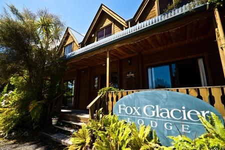 Fox Glacier Lodge, Fox Glacier, West Coast, South Island, New Zealand. photo