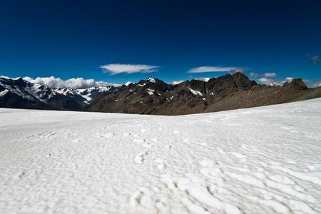 fox glacier: Southern Alps, West Coast, South Island, New Zealand.