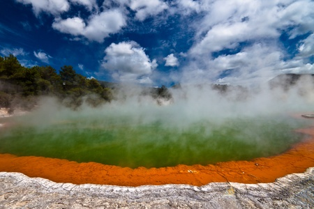 Wai-O-Tapu Wonderland. Geothermal area at Wai-O-Tapu, Rotorua, North Island, New Zealand. photo