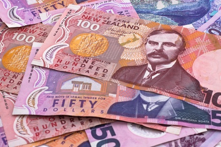 Dollar notes in New Zealand currency Stock Photo