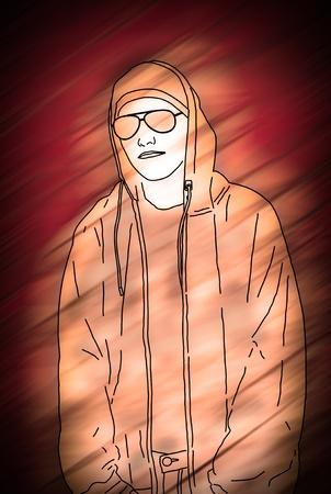Hip Hop Lifestyle. High resolution colorful illustration. illustration