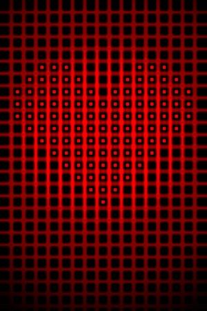 Digital heart shape romantic abstract high resolution background illustration. Stock Illustration - 9561314