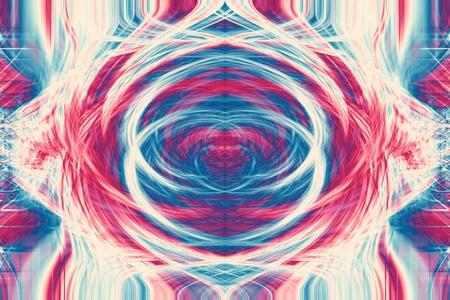 Funky futuristic colorful high resolution background illustration. Stock Illustration - 9708461