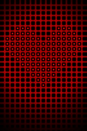 Digital heart shape romantic abstract high resolution background illustration. Stock Illustration - 9708457