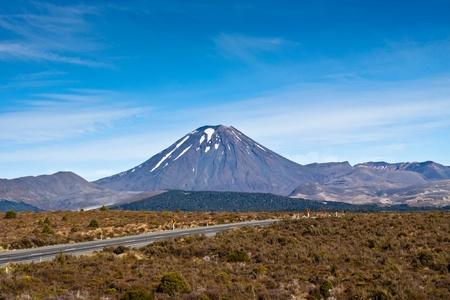 Mount Ngauruhoe in Tongariro National Park - New Zealand. photo