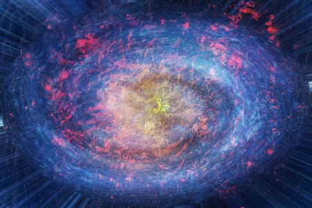 macrocosm: Galaxy explosion colourful abstract high resolution background illustration.