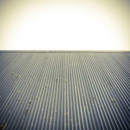 Metal roof and clear sky abstract background. Stock Photo - 11048662