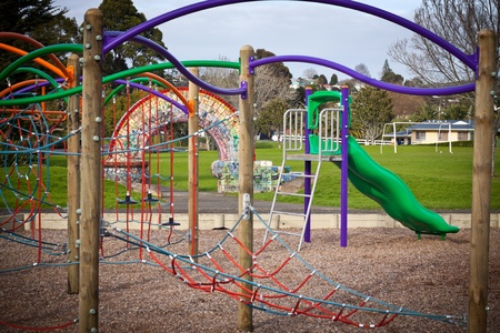 Detail of colorful kids playground in a park. Stock Photo - 11252178