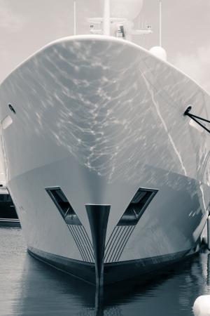 speedboat: Detail of luxury ship.