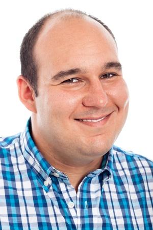 Close up of smiling man, isolated on white background. Stock Photo - 15572374