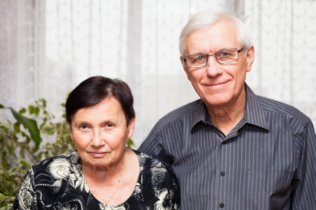 Portrait of smiling senior man and woman. Stock Photo - 17752110