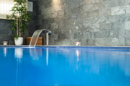 hydrotherapy: Interior of wellness and spa swimming pool.