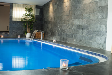 Interior of wellness and spa swimming pool. photo