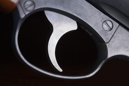 gun trigger: Macro of revolver gun trigger.