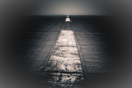 horrifying: Abstract creative photo of dramatic dark road and sky