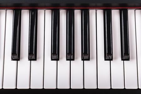 Detail of piano keyboard  photo