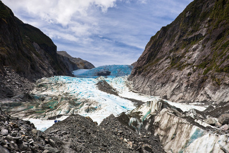 Scenic landscape at Franz Josef Glacier. Southern Alps, West Coast, South Island, New Zealand. 免版税图像